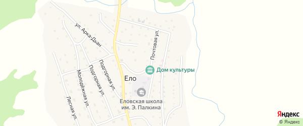 Почтовая улица на карте села Ело Алтая с номерами домов