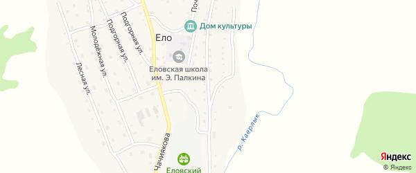 Кайырлыкская улица на карте села Ело Алтая с номерами домов