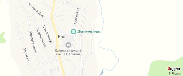 Улица Тонмок-Суу на карте села Ело Алтая с номерами домов