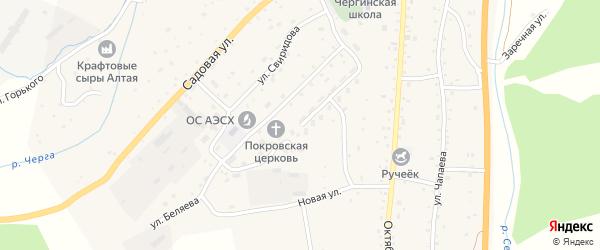 Новая улица на карте села Черга Алтая с номерами домов