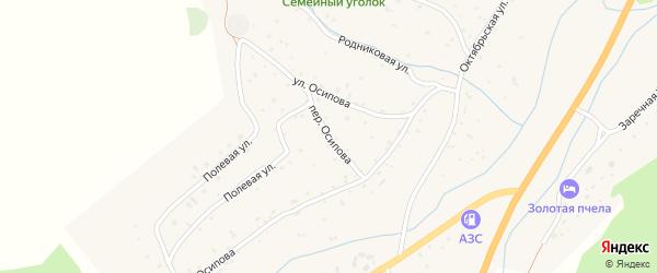 Переулок Осипова на карте села Черга Алтая с номерами домов