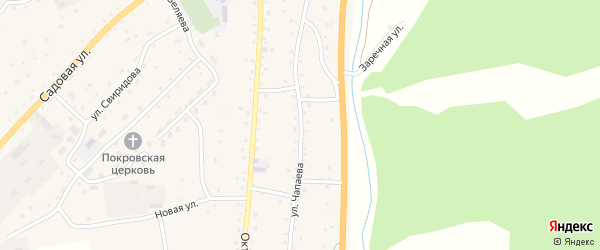 Улица Чапаева на карте села Черга с номерами домов