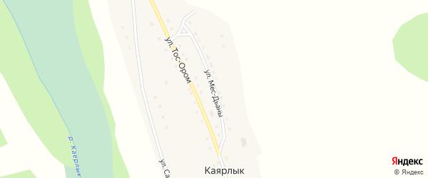 Улица Мес-Дьаны на карте села Каярлыка Алтая с номерами домов