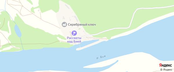 Озерная улица на карте садового некоммерческого товарищества Березки с номерами домов