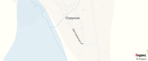 Центральная улица на карте Озерного села Алтая с номерами домов