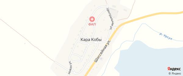 Подгорная улица на карте села Кары Кобы Алтая с номерами домов