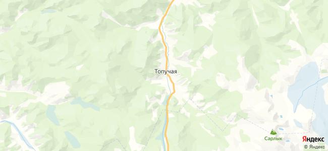 Топучая на карте