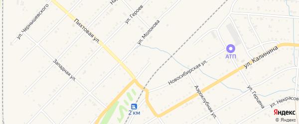 Железнодорожная улица на карте Тайги с номерами домов