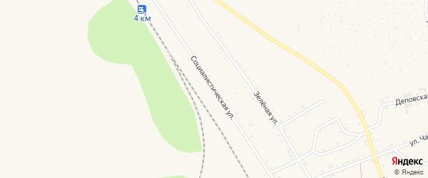 Социалистическая улица на карте Тайги с номерами домов
