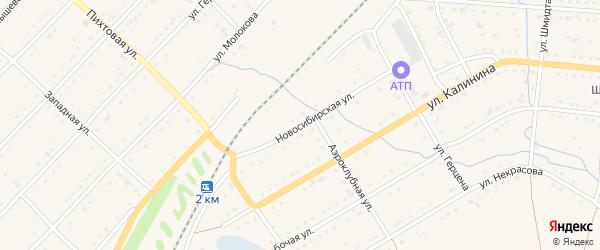Новосибирская улица на карте Тайги с номерами домов