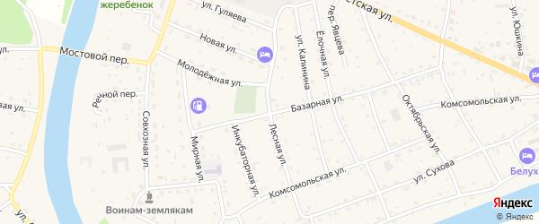 Лесная улица на карте села Усть-коксы Алтая с номерами домов