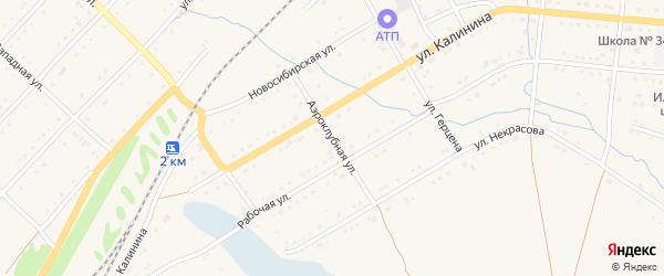 Аэроклубная улица на карте Тайги с номерами домов