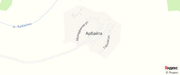 Улица Оленеводов на карте села Арбайты Алтая с номерами домов