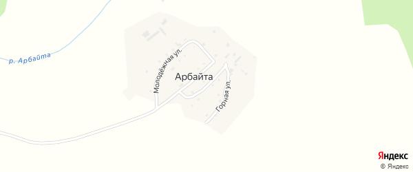 Советская улица на карте села Арбайты Алтая с номерами домов