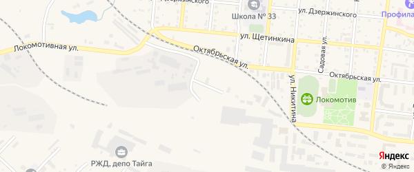 Таежная улица на карте Тайги с номерами домов