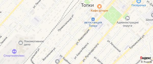 Советская улица на карте Топки с номерами домов