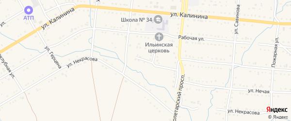 Южный переулок на карте Тайги с номерами домов