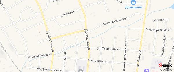 Деповская улица на карте Тайги с номерами домов