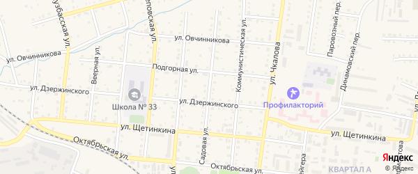 Садовая улица на карте Тайги с номерами домов