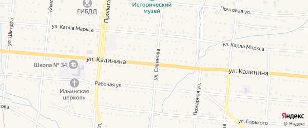 Улица Калинина на карте Тайги с номерами домов
