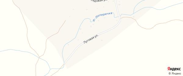 Луговая улица на карте села Колово с номерами домов