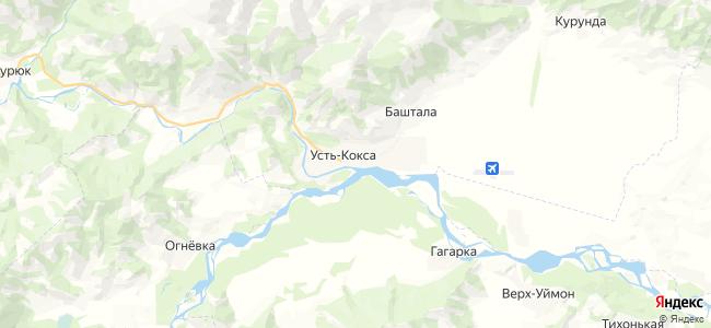 Усть-Кокса на карте