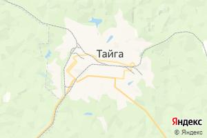 Карта г. Тайга Кемеровская область