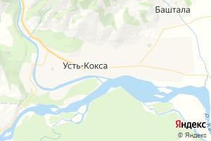 Карта с. Усть-Кокса Республика Алтай
