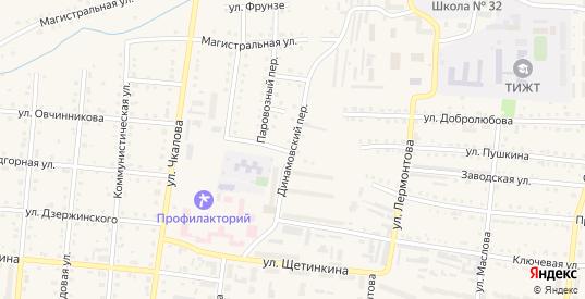 Динамовский переулок в Тайге с номерами домов на карте. Спутник и схема онлайн