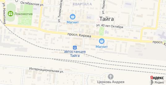 Привокзальная улица в разъезде Сураново в Тайге с номерами домов на карте. Спутник и схема онлайн