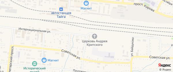Интернациональная улица на карте Тайги с номерами домов