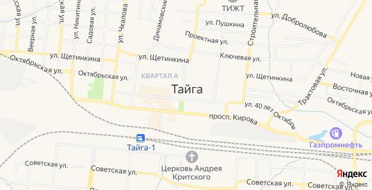 Карта разъезда Кузель в Тайге с улицами, домами и почтовыми отделениями со спутника онлайн