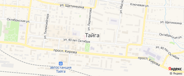 Пожарный переулок на карте Тайги с номерами домов