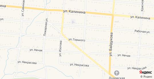 Улица Горького в Тайге с номерами домов на карте. Спутник и схема онлайн