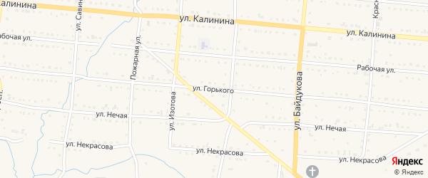 Улица Горького на карте Тайги с номерами домов