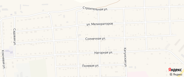 Солнечная улица на карте села Усть-коксы Алтая с номерами домов