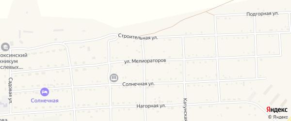 Улица Мелиораторов на карте села Усть-коксы Алтая с номерами домов