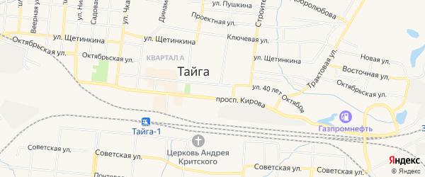 ГСК ГМ на ул. 40 лет Октября 32А на карте Тайги с номерами домов