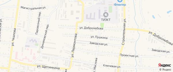 Улица Пушкина на карте Тайги с номерами домов