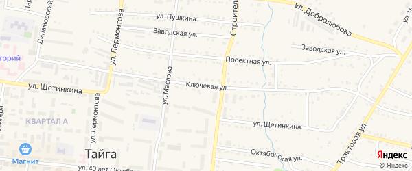 Ключевая улица на карте Тайги с номерами домов