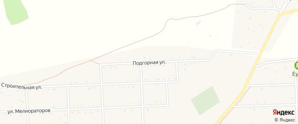 Подгорная улица на карте села Усть-коксы Алтая с номерами домов