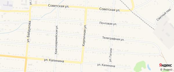 Телеграфная улица на карте Тайги с номерами домов