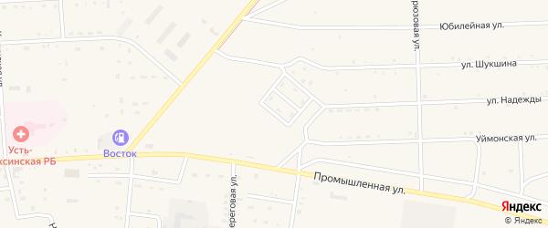 Спортивный переулок на карте села Усть-коксы Алтая с номерами домов