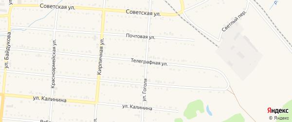Улица Гоголя на карте Тайги с номерами домов