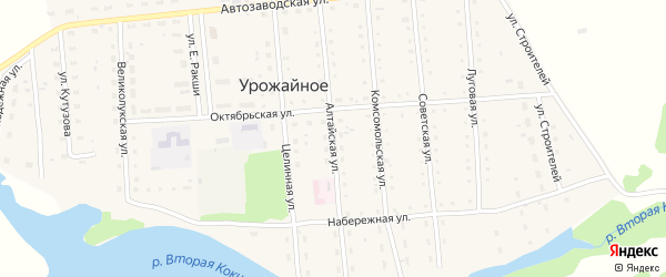 Алтайская улица на карте Урожайного села с номерами домов