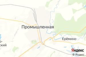 Карта пгт Промышленная Кемеровская область