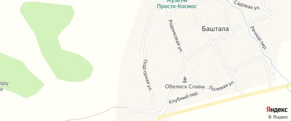 Подгорная улица на карте села Башталы Алтая с номерами домов