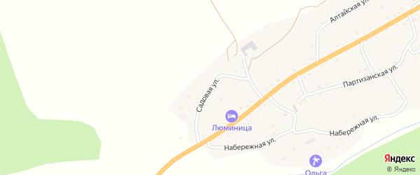 Садовая улица на карте села Камлака Алтая с номерами домов