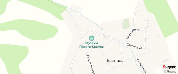Милый переулок на карте села Башталы Алтая с номерами домов