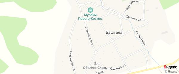 Родниковая улица на карте села Башталы Алтая с номерами домов